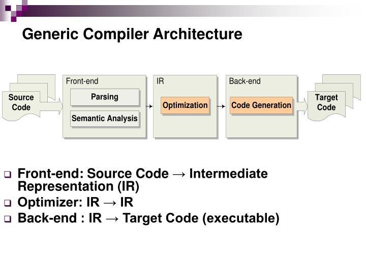 Generic Compiler Architecture