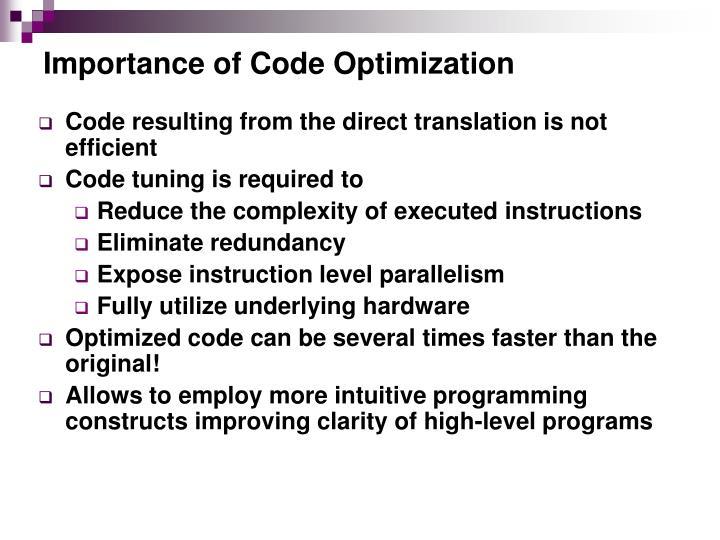 Importance of Code Optimization