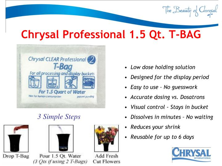 Chrysal Professional 1.5 Qt. T-BAG