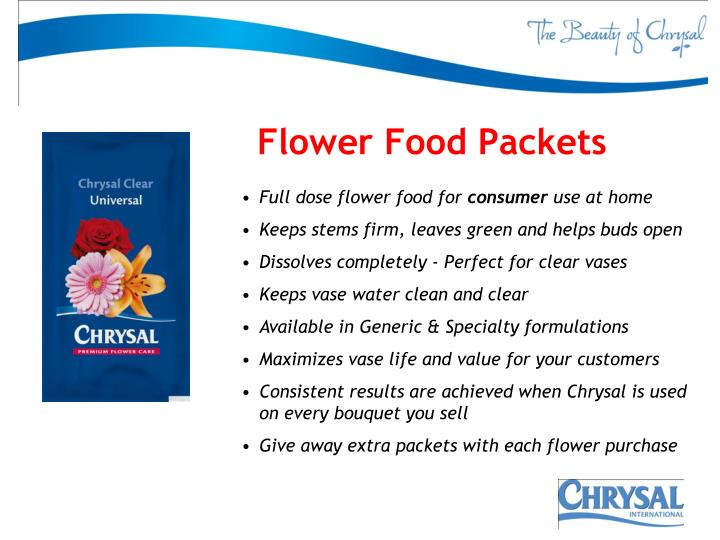 Flower Food Packets