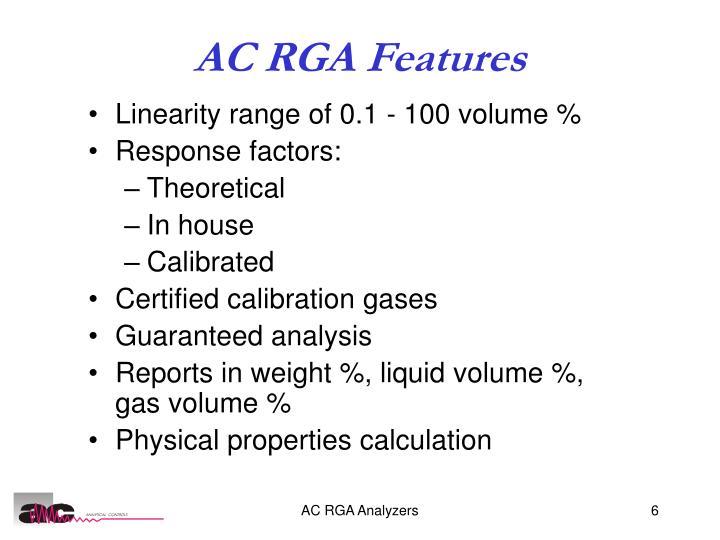 AC RGA Features
