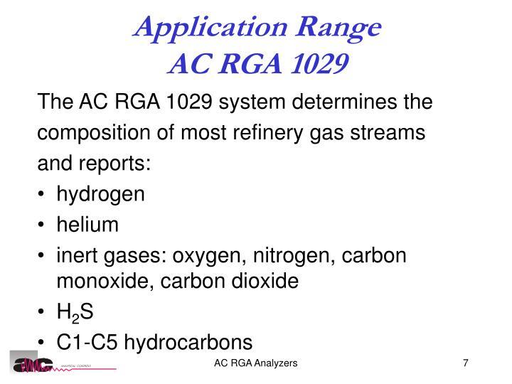 Application Range