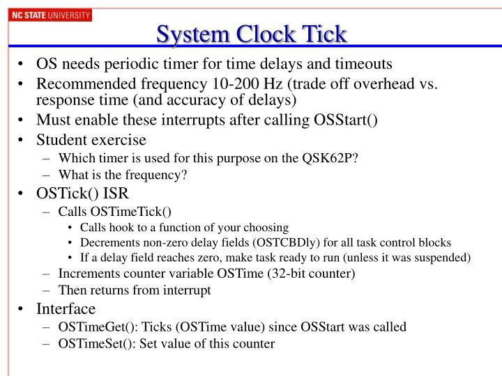 System Clock Tick