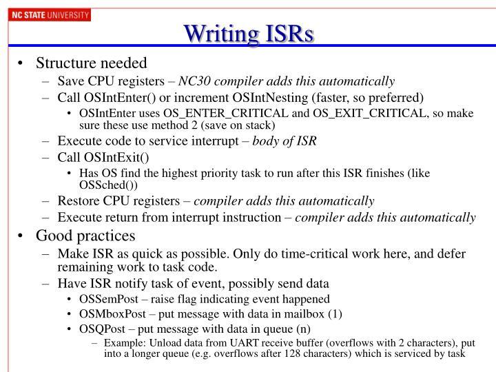 Writing ISRs