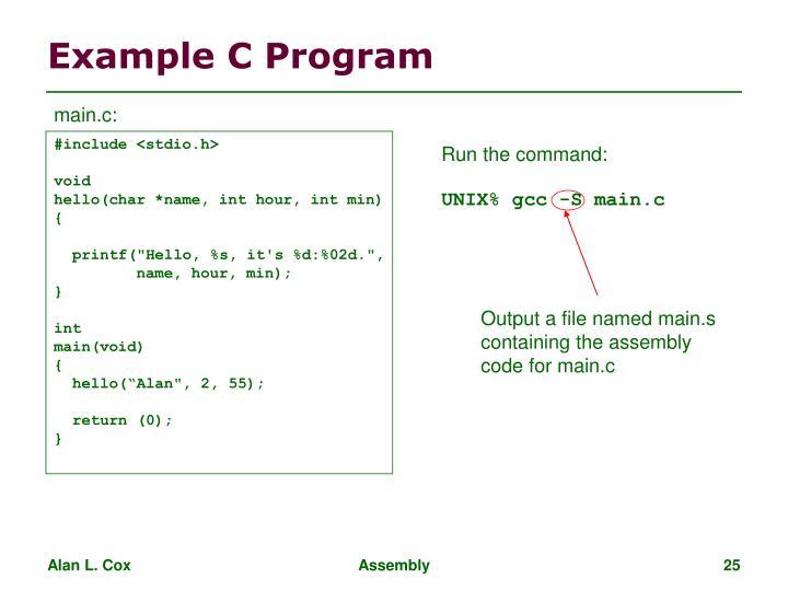 Example C Program
