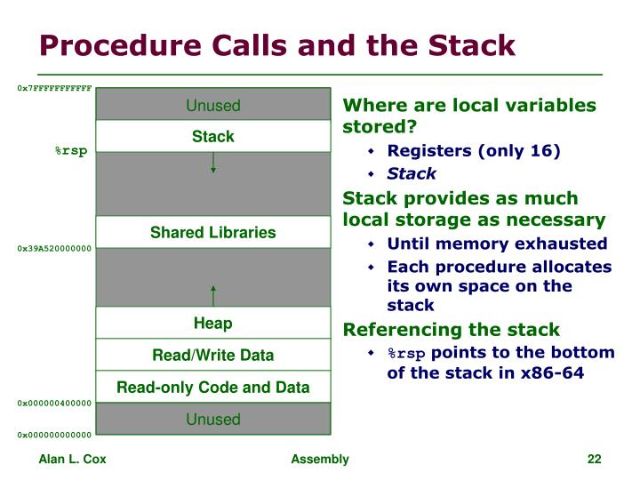 Where are local variables stored?