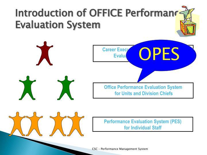 Career Executive Service – Performance Evaluation System (CESPES)