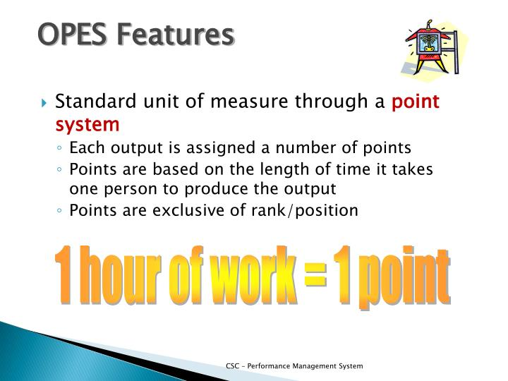 OPES Features