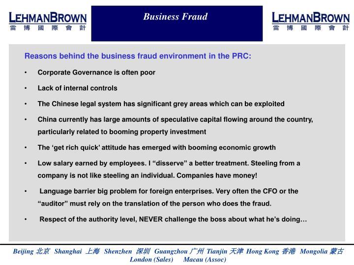 Business Fraud