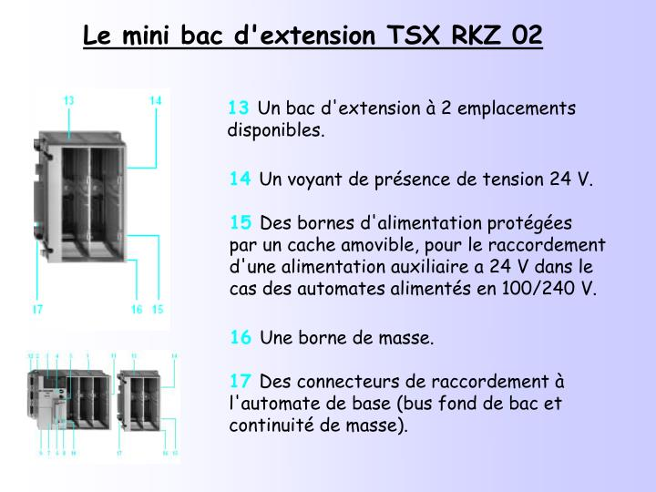 Le mini bac d'extension TSX RKZ 02