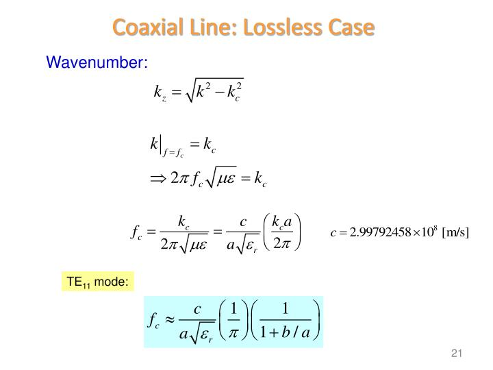Coaxial Line: Lossless Case