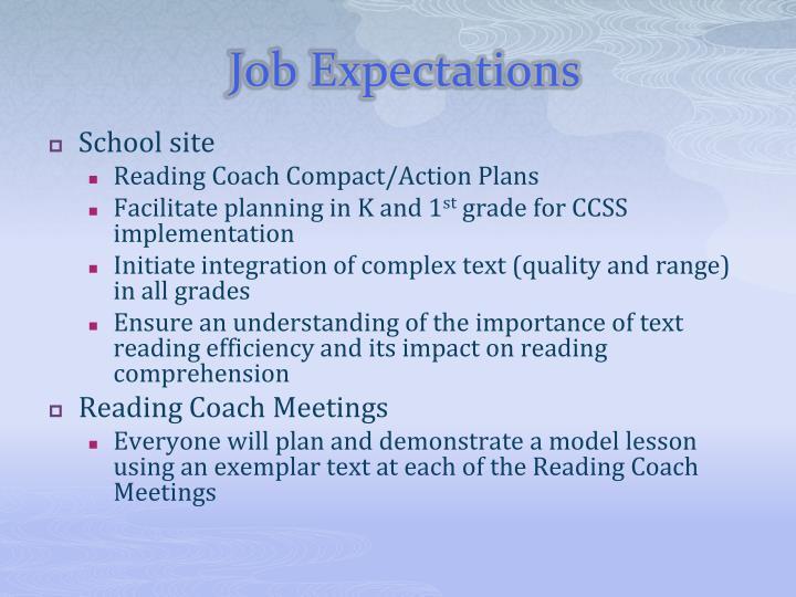 Job Expectations