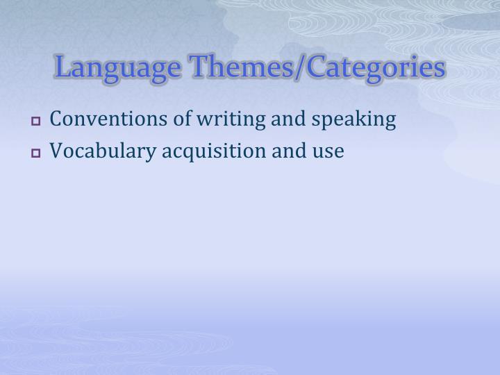 Language Themes/Categories