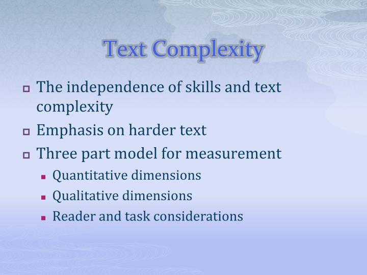 Text Complexity