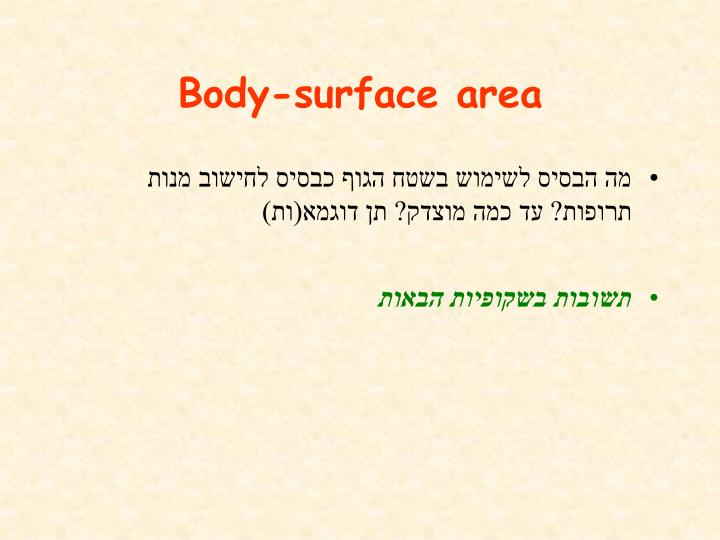 Body-surface area