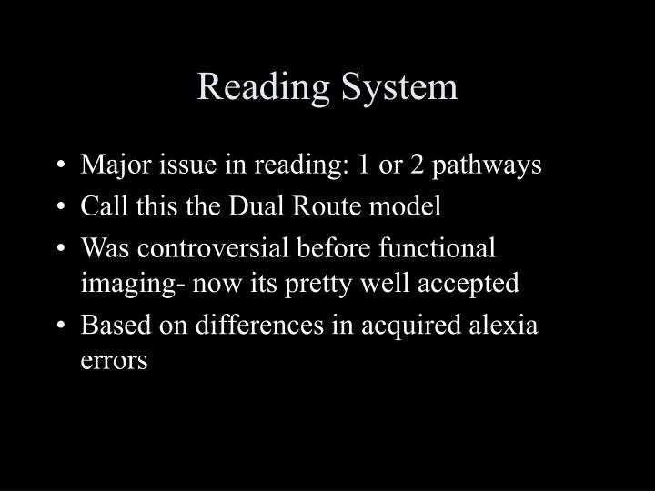 Reading System
