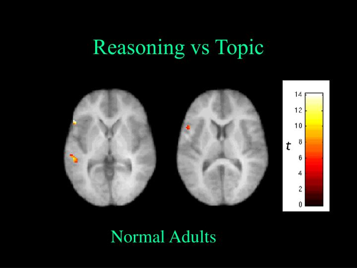 Reasoning vs Topic