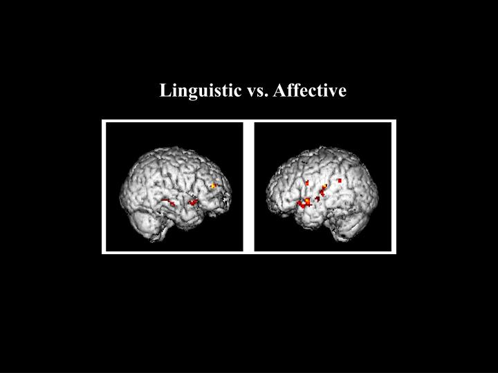Linguistic vs. Affective