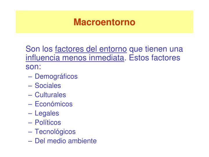 Macroentorno