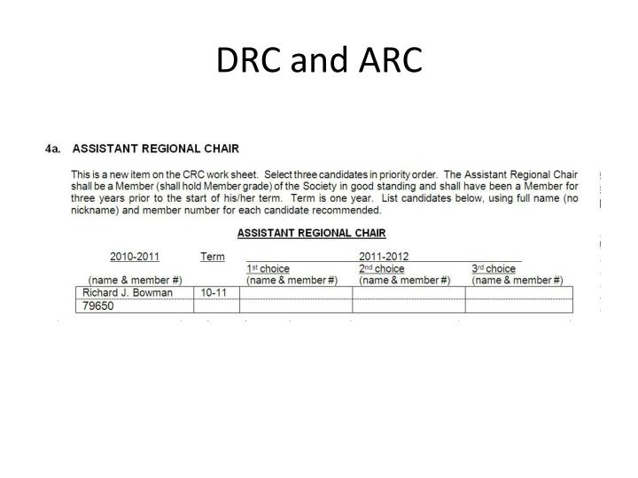 DRC and ARC