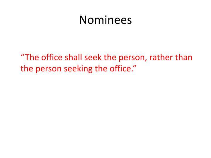 Nominees