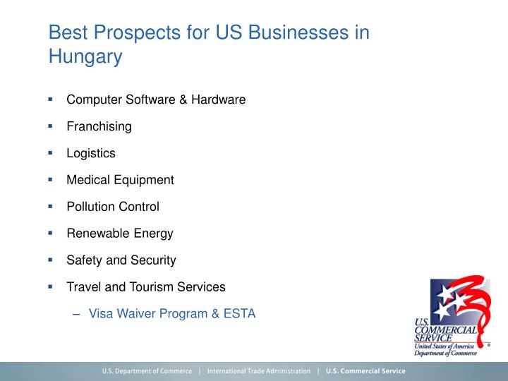 Best Prospects for US Businesses in Hungary