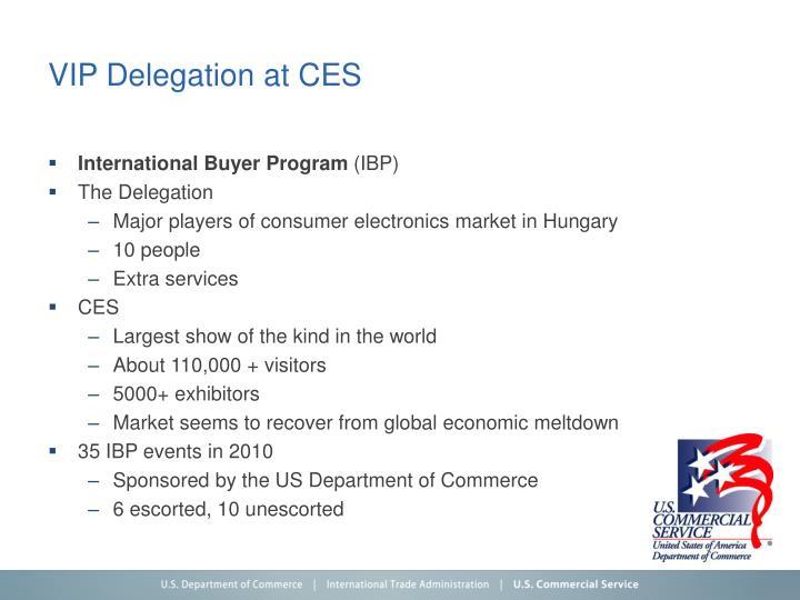 VIP Delegation at CES