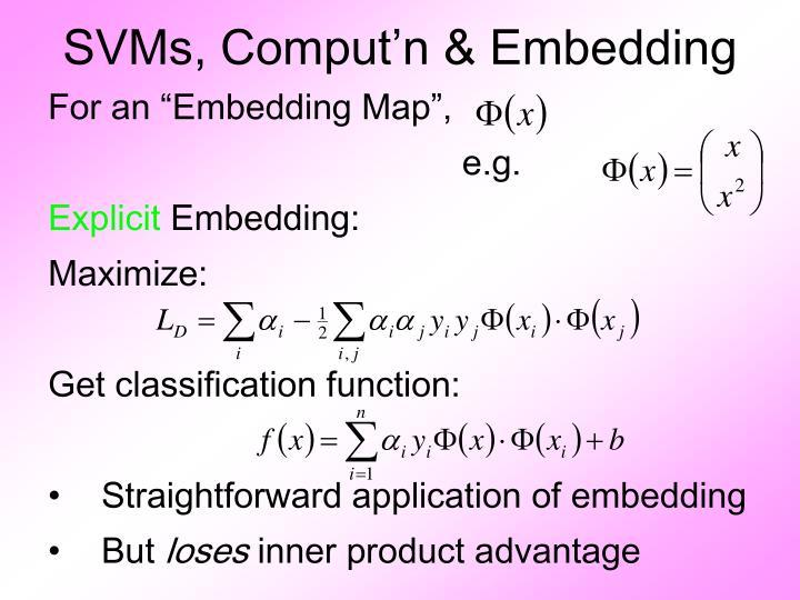 SVMs, Comput