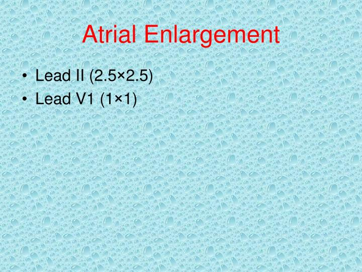 Atrial Enlargement