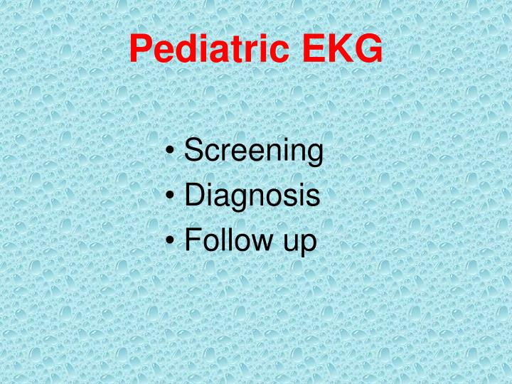Pediatric EKG