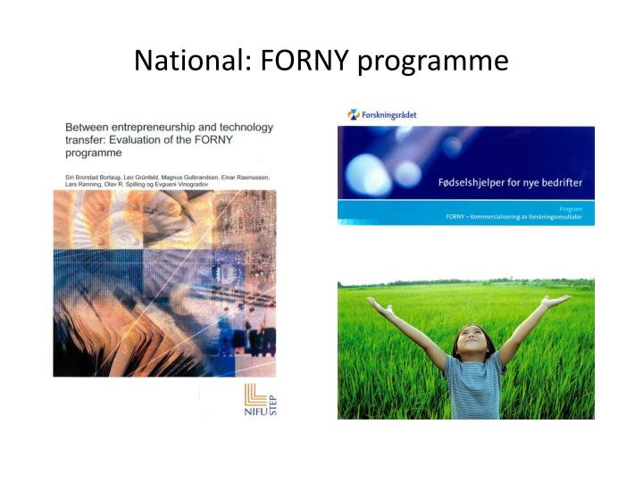 National: FORNY