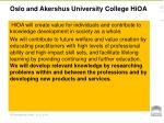 oslo and akershus university college hioa1