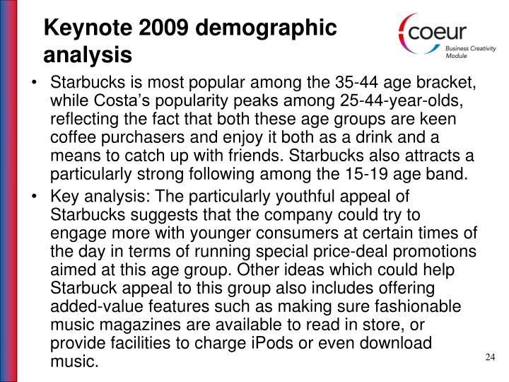 Keynote 2009 demographic