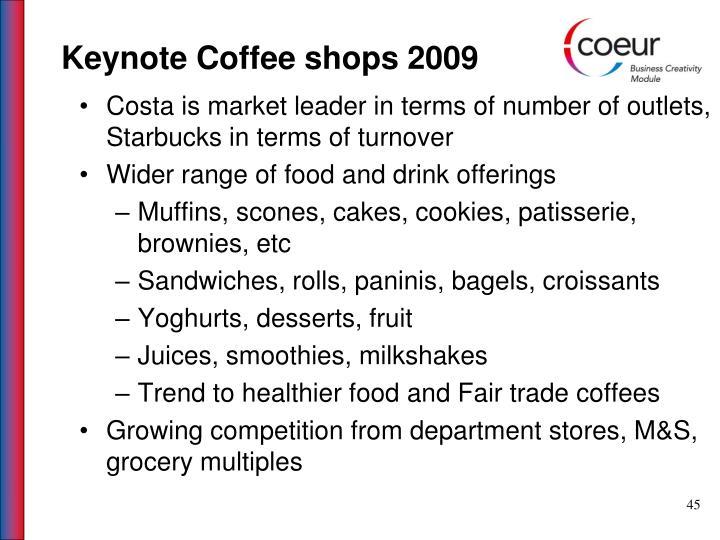 Keynote Coffee shops 2009