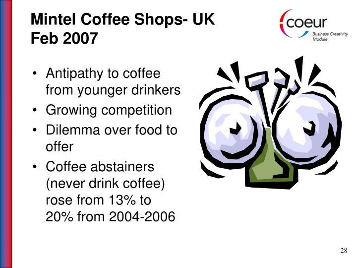Mintel Coffee Shops- UK