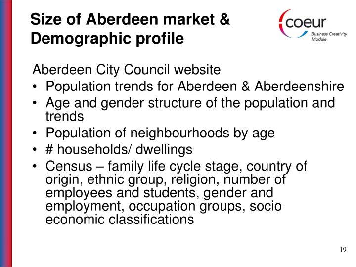 Size of Aberdeen market &