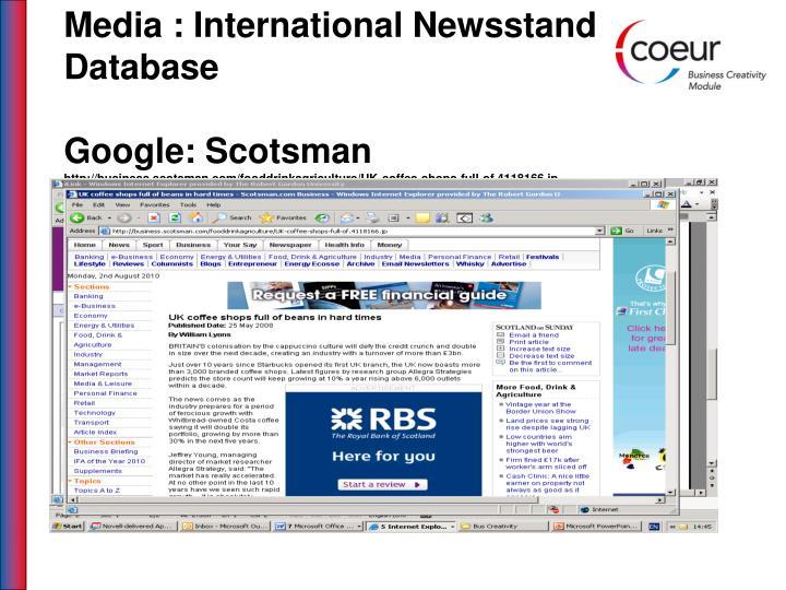 Media : International Newsstand Database