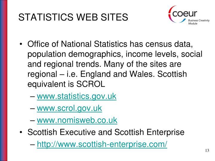 STATISTICS WEB SITES