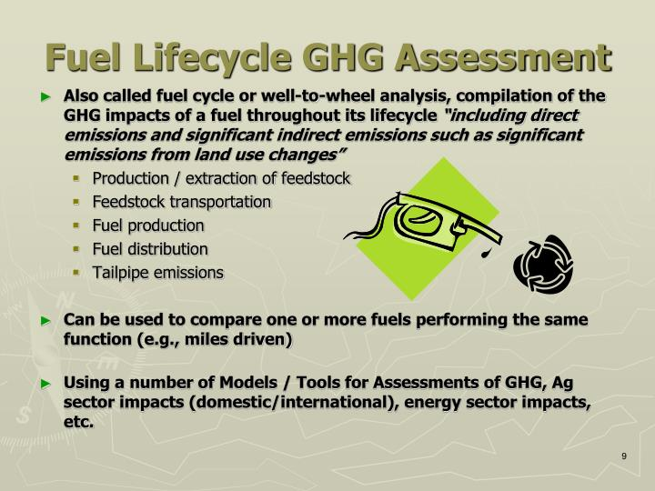 Fuel Lifecycle GHG Assessment