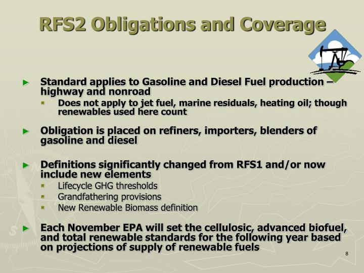RFS2 Obligations and Coverage