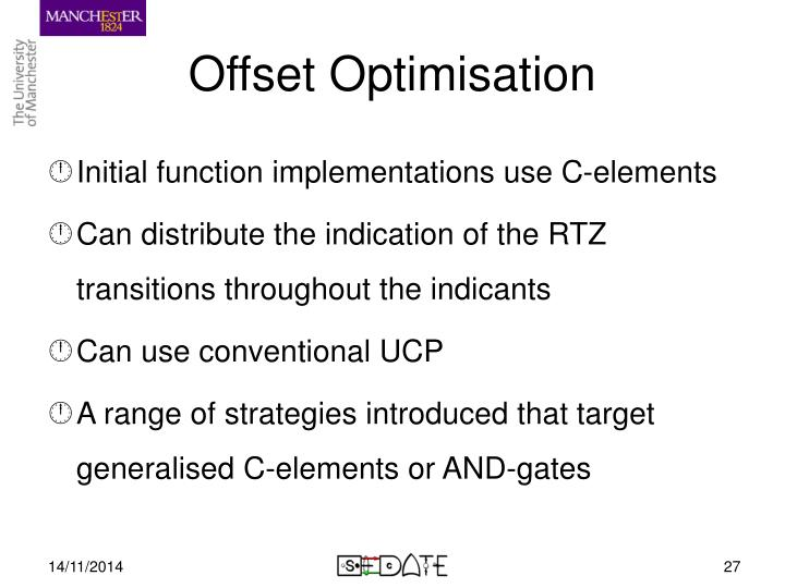 Offset Optimisation
