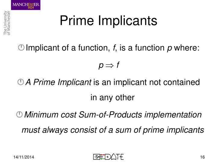 Prime Implicants