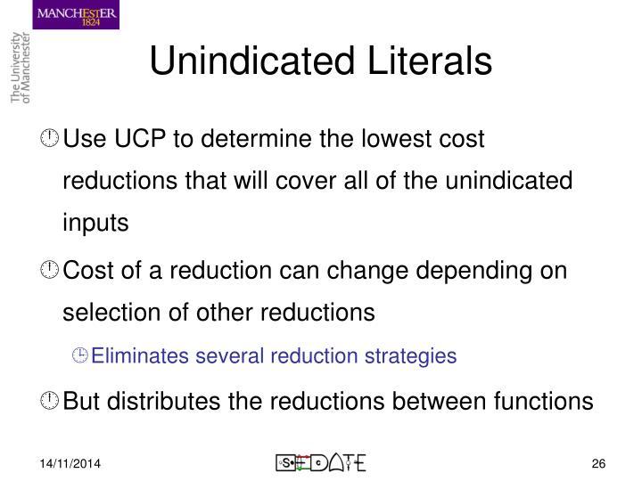 Unindicated Literals