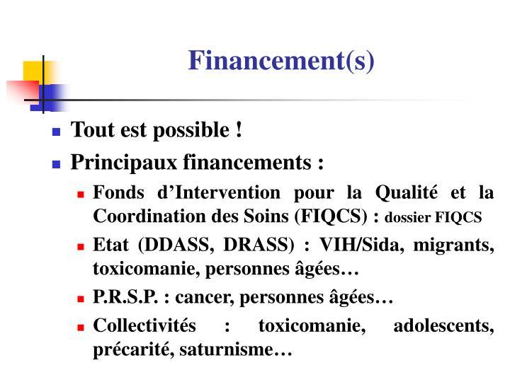 Financement(s)