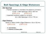 bolt spacings edge distances