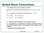 bolted shear connections10