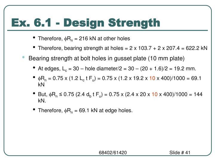 Ex. 6.1 - Design Strength