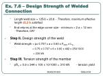 ex 7 6 design strength of welded connection3