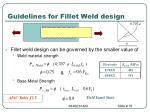 guidelines for fillet weld design1