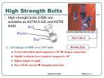 high strength bolts